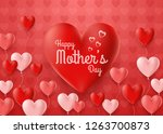 happy mother's day card with... | Shutterstock .eps vector #1263700873