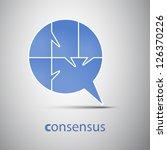 consensus   speech bubble... | Shutterstock .eps vector #126370226