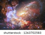 nebulae an interstellar cloud... | Shutterstock . vector #1263702583