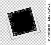 black and white polaroid photo... | Shutterstock .eps vector #1263703426