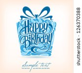 birthday card. vector | Shutterstock .eps vector #126370388