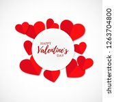 valentine s day greeting card... | Shutterstock .eps vector #1263704800
