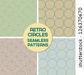 Set Of Retro Overlapping Circl...