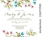 invitation or wedding card with ... | Shutterstock .eps vector #126372500