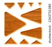 light brown wooden set of... | Shutterstock . vector #1263731380