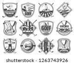 golf club sport champioship... | Shutterstock .eps vector #1263743926