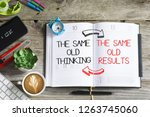 the same old thinking  the same ... | Shutterstock . vector #1263745060