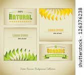 organic vector banner...   Shutterstock .eps vector #126376238