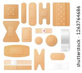 isolated patches and adhesive... | Shutterstock .eps vector #1263764686