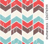 Seamless vector chevron pattern. Scratched chevron background. | Shutterstock vector #126376544