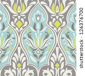 seamless vector damask pattern. ... | Shutterstock .eps vector #126376700