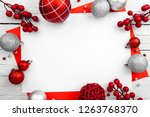 christmas ornament made of red... | Shutterstock . vector #1263768370