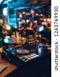dj plays live set and mixing... | Shutterstock . vector #1263769930