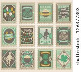 Vector Postage Stamps Set. St....
