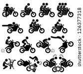 motorcycle motorbike motor bike ... | Shutterstock .eps vector #126377318
