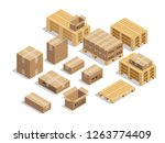 pallets for shipment with... | Shutterstock .eps vector #1263774409
