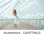 beautiful woman fashion full... | Shutterstock . vector #1263774613