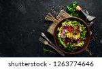 salad. lettuce  beets  avocados ... | Shutterstock . vector #1263774646