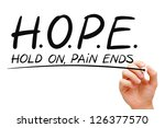 hand writing hope concept with... | Shutterstock . vector #126377570