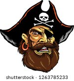 The Illustration Shows A Pirate ...