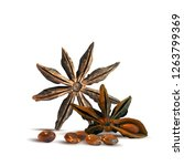 fragrant and tasty anise star.... | Shutterstock .eps vector #1263799369
