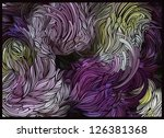 abstract floral design in light ...
