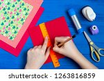 making greeting card for... | Shutterstock . vector #1263816859
