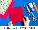 making greeting card for... | Shutterstock . vector #1263816880