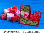 making greeting card for... | Shutterstock . vector #1263816883