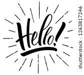 hello lettering. handwritten... | Shutterstock .eps vector #1263817246