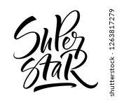 super star lettering.... | Shutterstock .eps vector #1263817279