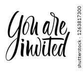you are invited lettering.... | Shutterstock .eps vector #1263817300