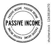 grunge black passive income... | Shutterstock .eps vector #1263818470