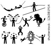 circus performers acrobat stunt ...