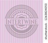 intertwine pink emblem. retro | Shutterstock .eps vector #1263824053