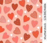 seamless pattern for valentine... | Shutterstock .eps vector #1263824686
