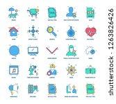 25 business concept mix flat...   Shutterstock .eps vector #1263826426