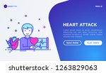 heart attack symptoms concept ... | Shutterstock .eps vector #1263829063