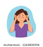 girl suffers from panic attack... | Shutterstock .eps vector #1263830596