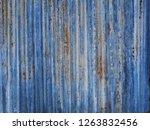 old zinc roof rusty metal wall... | Shutterstock . vector #1263832456