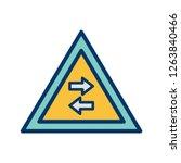 vector two way traffic crosses... | Shutterstock .eps vector #1263840466