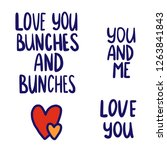 vector valentines day text... | Shutterstock .eps vector #1263841843