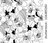 monochrome seamless pattern... | Shutterstock .eps vector #126385283