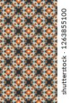 ornate geometric pattern and... | Shutterstock . vector #1263855100