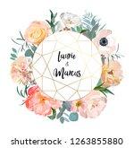 floral wedding invitation.... | Shutterstock .eps vector #1263855880