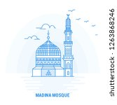 madina mosque blue landmark.... | Shutterstock .eps vector #1263868246