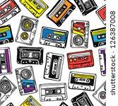 cassette pattern | Shutterstock .eps vector #126387008
