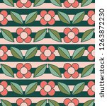 seamless retro pattern with... | Shutterstock .eps vector #1263872230