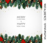 merry christmas and happy new... | Shutterstock .eps vector #1263874186