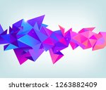 raster copy abstract 3d... | Shutterstock . vector #1263882409